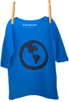 Long Sleeve Earth Shirt Electric Blue