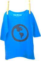Long Sleeve Earth Shirt Light Blue