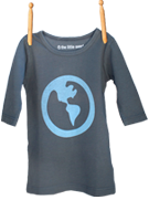 Long Sleeve Earth Shirt Gray