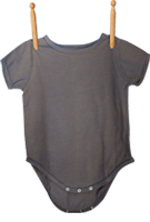 Short Sleeve Bodysuit Gray