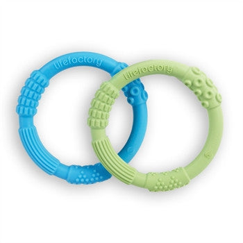 Multi-Sensory Teether 2-Pack Blue