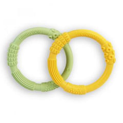 Multi-Sensory Teether 2-Pack Yellow