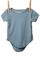 Short Sleeve Bodysuit Light Blue