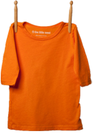 3/4 Sleeve Shirt Light Orange