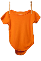 Short Sleeve Bodysuit Light Orange