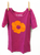 Short Sleeve Poppy Shirt Magenta