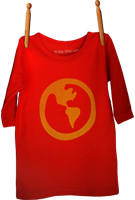 Long Sleeve Earth Shirt Red