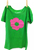 Short Sleeve Poppy Shirt Lime Green