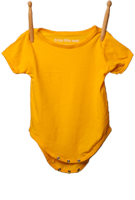 Short Sleeve Bodysuit Sunshine Yellow
