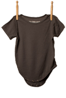 Short Sleeve Bodysuit Taupe