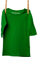 3/4 Sleeve Shirt Treehugging Green