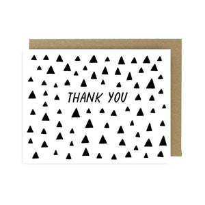 thank you triangles card