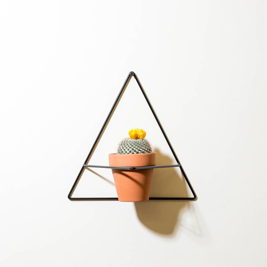 triangle wall planter black