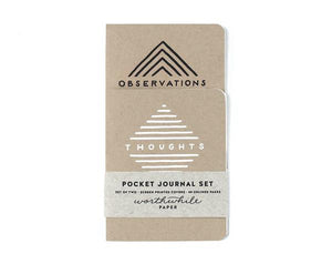 thoughts & observations - pocket journal set