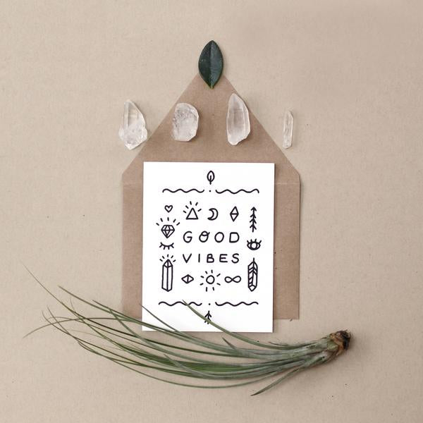 'good vibes' card