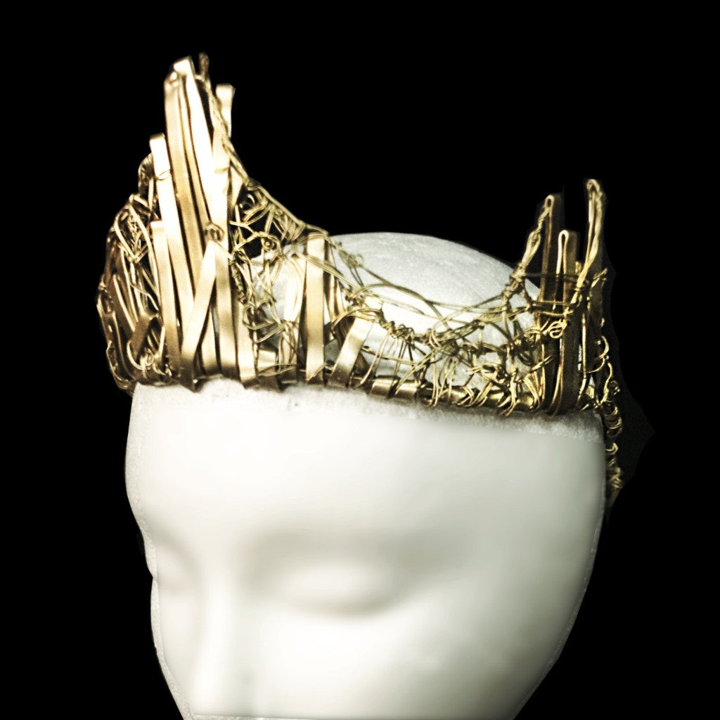 Hermia Gold Crown Queen Accessory Clutch Jewelry