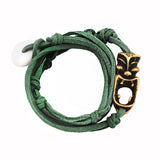 Tasman leather wrap bracelet