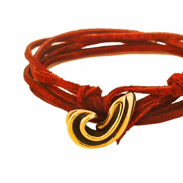 Tulate leather wrap bracelet