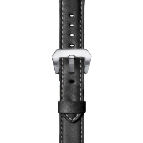 26mm Premium Leather Watch Strap in Black
