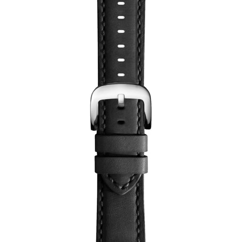 Premium Leather Watch Strap in Black with Quick Spring