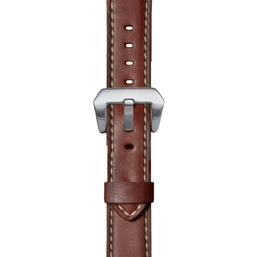 24mm Premium Leather Watch Strap in Brown