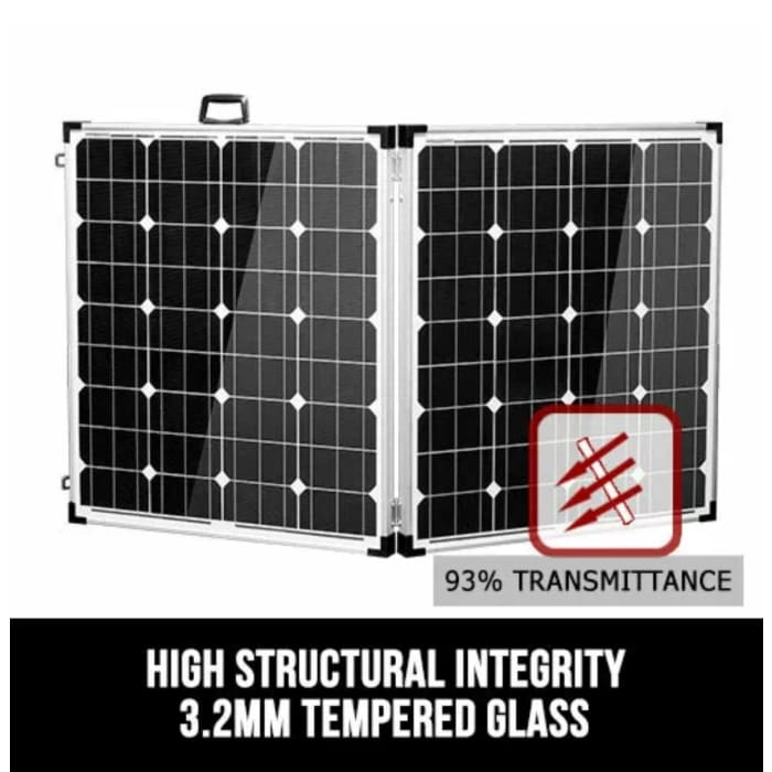 250W Folding Solar Panel Kit 12V Mono - Wa 4x4 Camping And Accessories