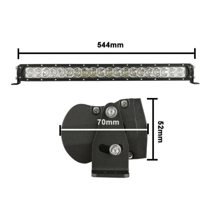 7 LED Driving Light Set + 22 LED Light Bar Combo
