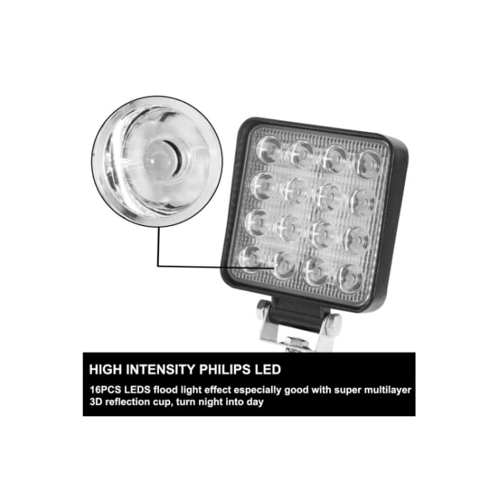80W LED Work Light Pair - Wa 4x4 Camping And Accessories