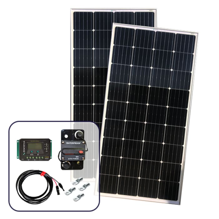 Enerdrive 2 x 180W Solar Panel with Installation Kit
