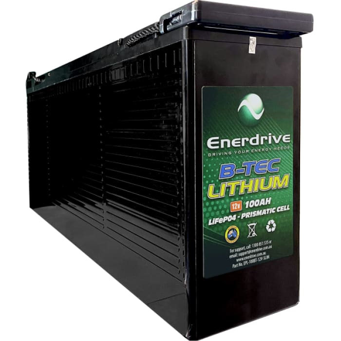 Enerdrive ePOWER B-TEC 100Ah Slimline Lithium Battery DC