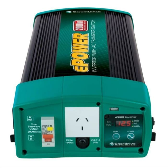EPOWER 2000W/2600W 12V TRUE SINE WAVE INVERTER WITH AC