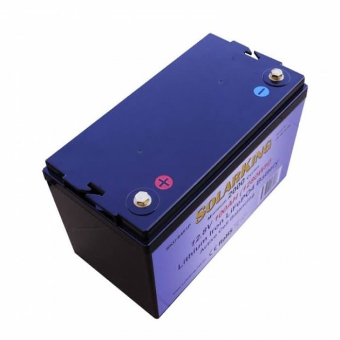 Solarking 120Ah 12V Lithium Battery LiFePo4 100A BMS Prismatic Cell Active Balancing - Wa 4x4 Camping And Accessories
