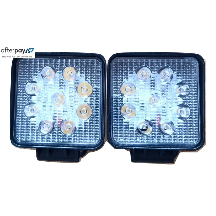Square Cree LED 27W Work Light Pair - Wa 4x4 Camping And Accessories