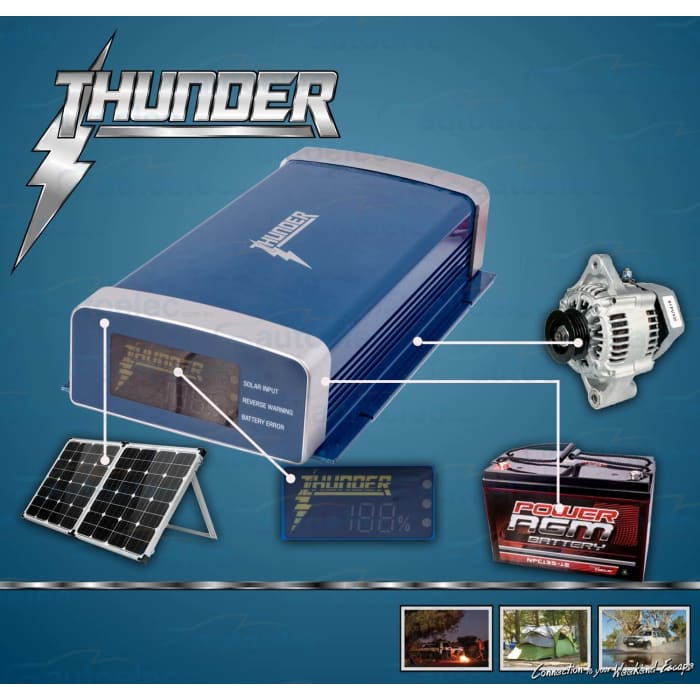 Thunder DC-DC 40A Charger with MPPT Solar Regulator - Wa 4x4 Camping And Accessories