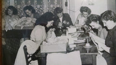 Women repairing hosiery for Whites of Kent