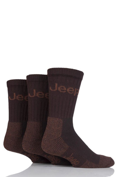 Jeep-Mens Luxury Terrain Boot Sock-3 Pair Pack