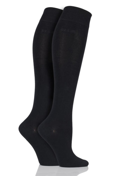Elle-Ladies Bamboo Knee High Socks-2 Pair Pack