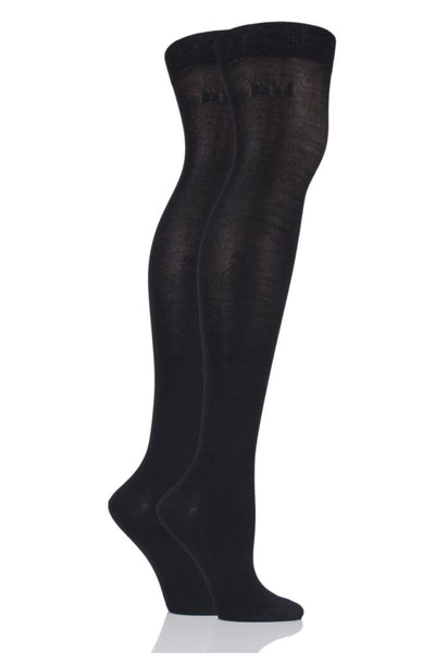 Elle-Ladies Bamboo Over the Knee Socks-2 Pair Pack