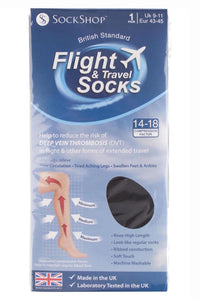 Flight Socks-Mens-80 Denier