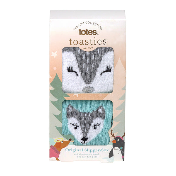 Totes Toasties-Slipper Sox-Twin Pack-3218D