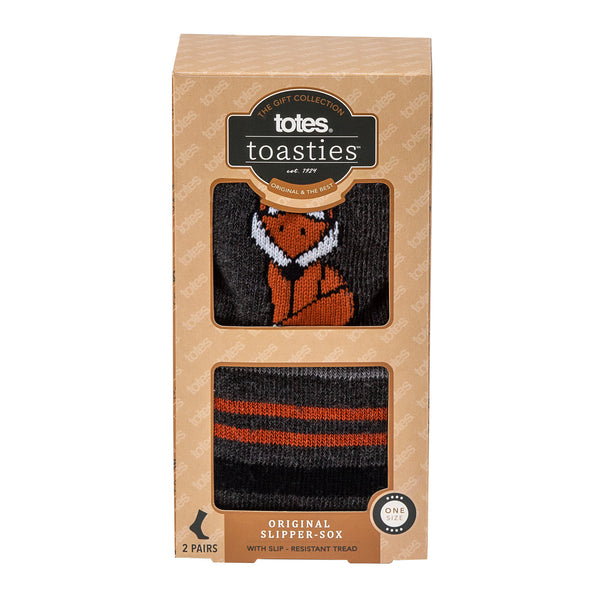 Totes Toasties-Mens Slipper Sox-Twin Pack-3324N