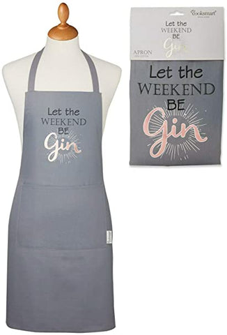 Bib Apron-Let the Weekend Be Gin-100% Cotton