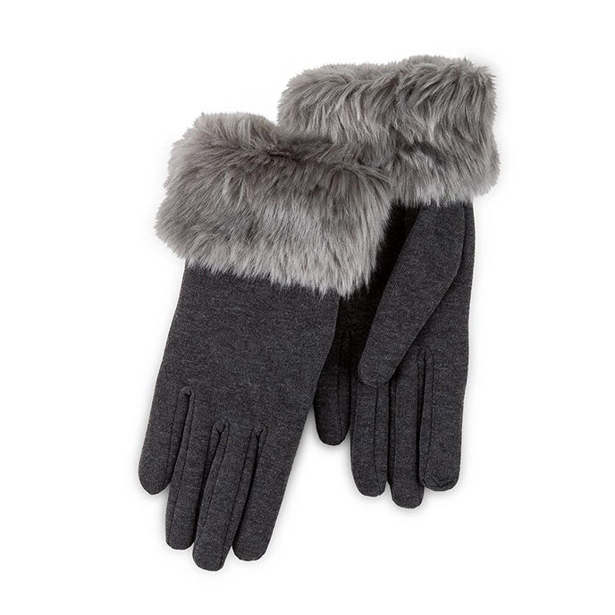 Totes Isotoner-Ladies Thermal Gloves-Fur Cuff-86188
