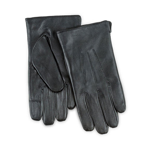 Isotoner-Mens 3 Point Leather Gloves-Water Repellent-Smart Touch-86196