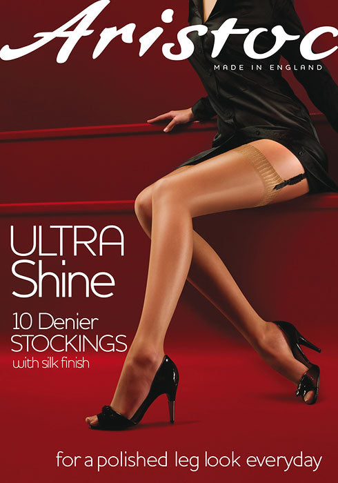 Aristoc-Ladies Ultra Shine Stockings-10 Denier