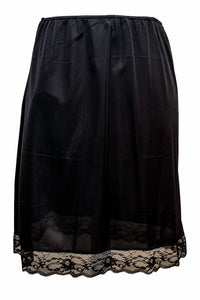 Ladies-Half Slip Petticoat-26''Length-Black