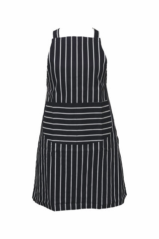 Butchers Apron-Bib Front-Tie Waist-Front Pocket-Stripe
