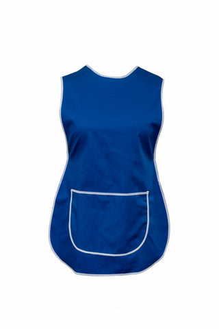 Tabbard-Button Side-Over the Head-Plain-Large Front Pocket-Royal Blue
