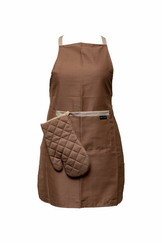 Oven Mitt-Single Glove-Brown