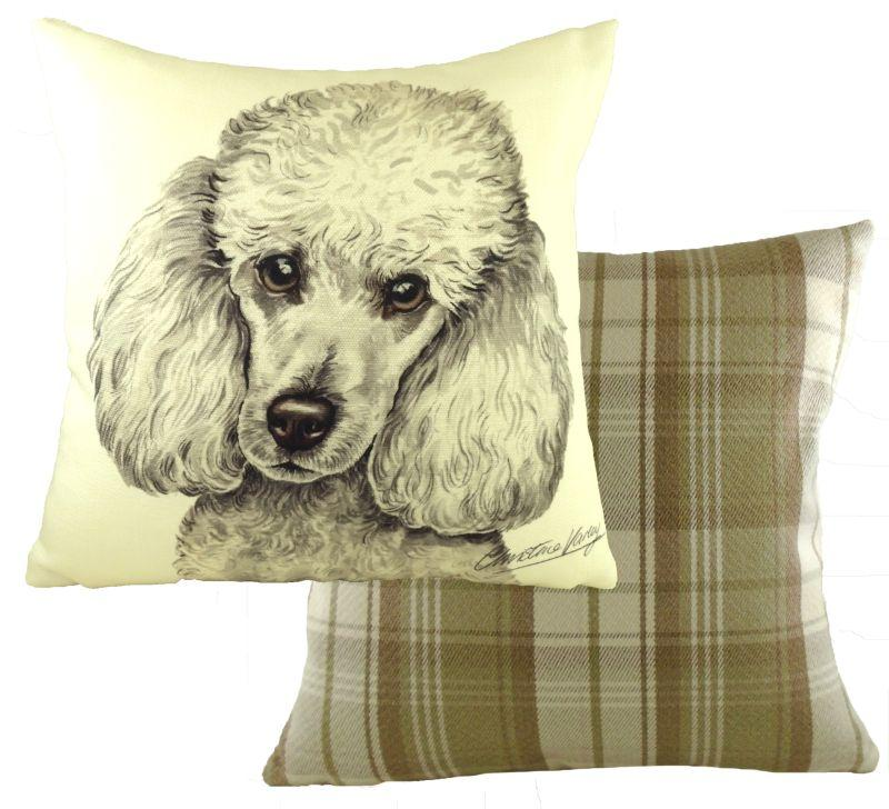 White Poodle-Cushion Cover-43 x 43cm